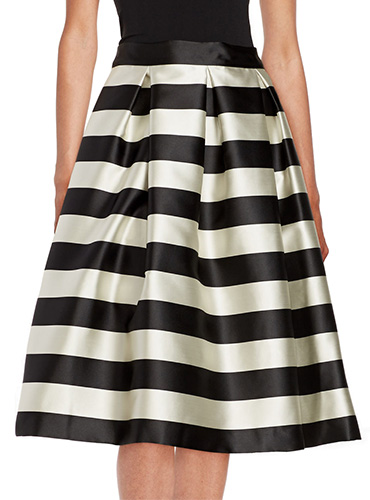 Eliza J Sripe Midi Skirt