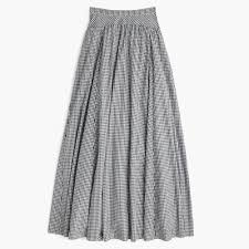 J. Crew Gingham ball skirt