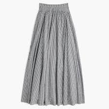 J. Crew Gingham ball skirt