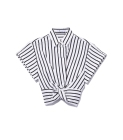 T by Alexander Wang striped twist front top